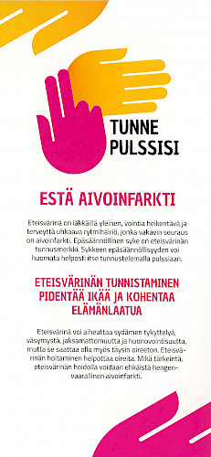 Tunne pulssisi -flyer